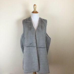 89th & Madison Women's Long Faux Fur Sweater Vest